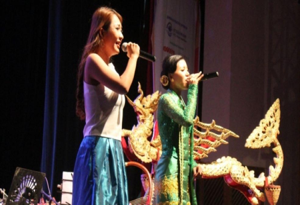 At the Myanmar Music Festival