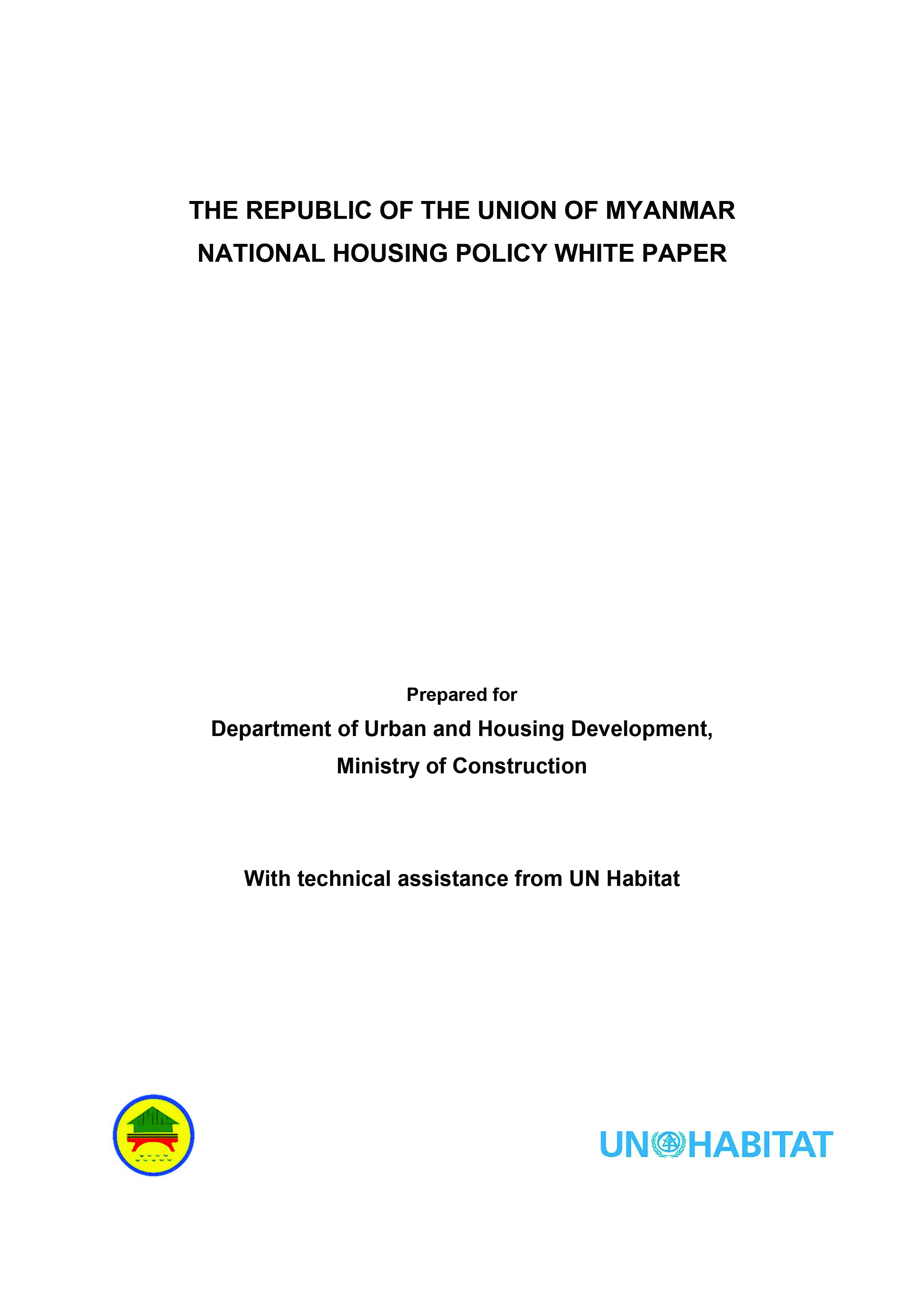 National Housing Policy White Paper