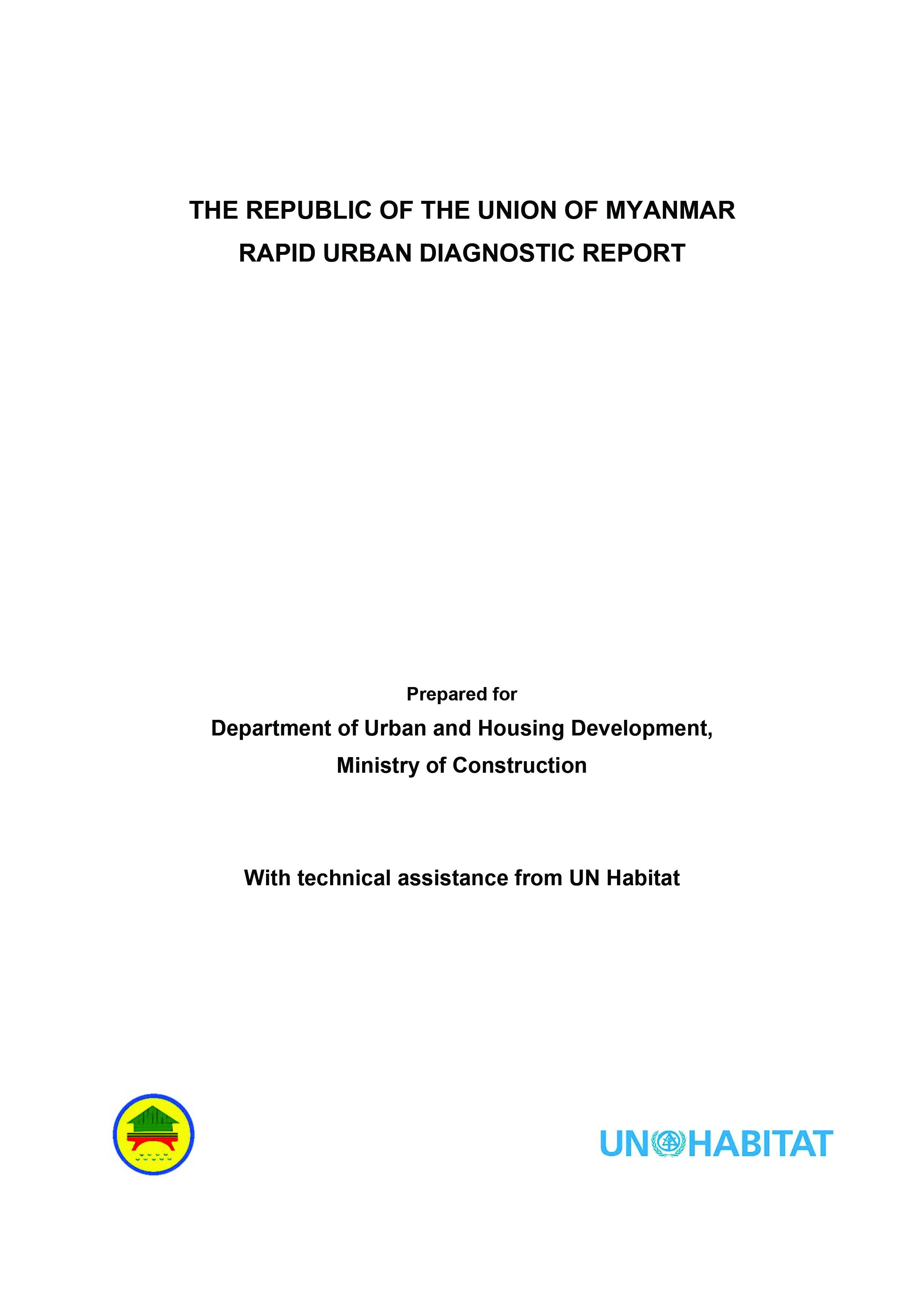 Rapid Urban Diagnostic Report