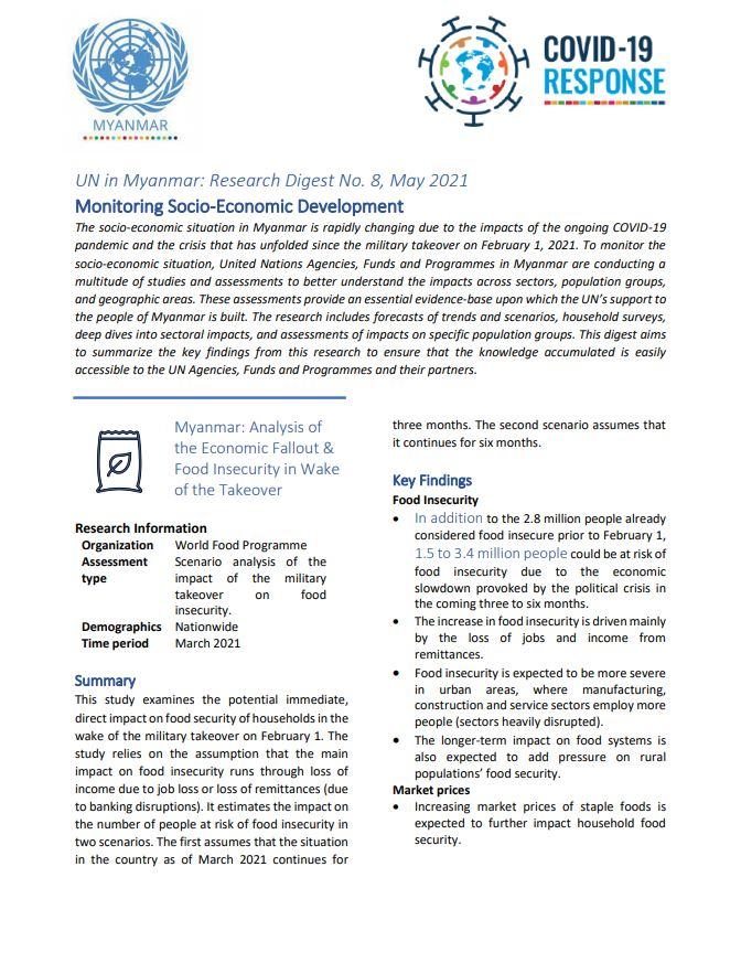 Monitoring socio-economic development