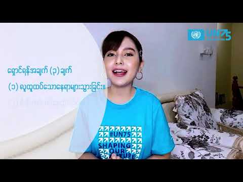 The Future We Want - Shaping our Future Together : Voices of young influencers - Yadanar My